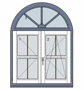 Fenster zeichnen - Fenster mit rundbogen ...